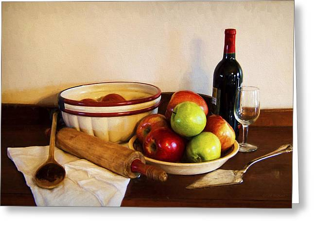 Apple Pie Impressions Greeting Card by Cricket Hackmann