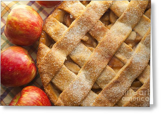 Apple Pie With Lattice Crust Greeting Card by Diane Diederich
