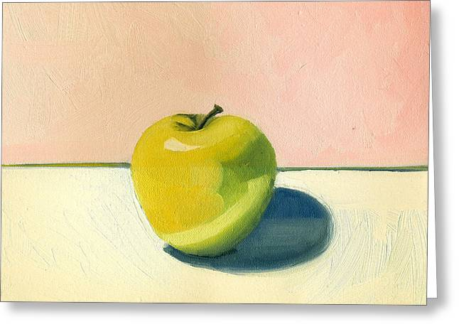 Apple - Pink And White Greeting Card
