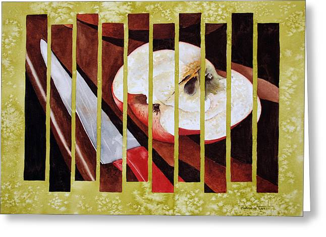 Apple Slices Greeting Card by Zuzana Vass