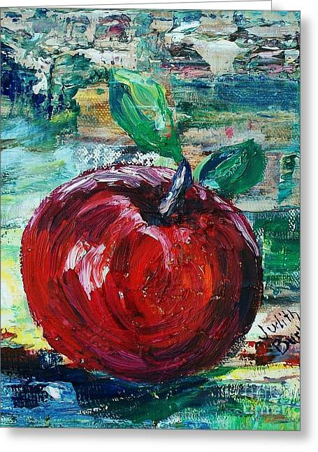 Apple - Sold Greeting Card by Judith Espinoza
