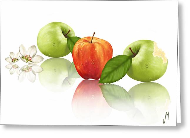Apple Story Greeting Card by Veronica Minozzi