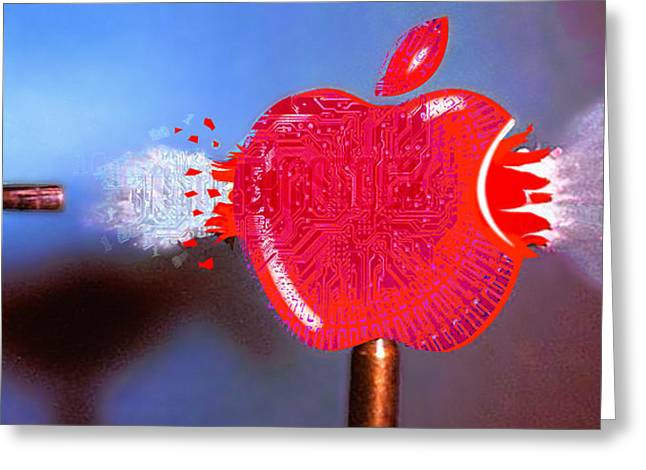 Apple Greeting Card by Tony Rubino