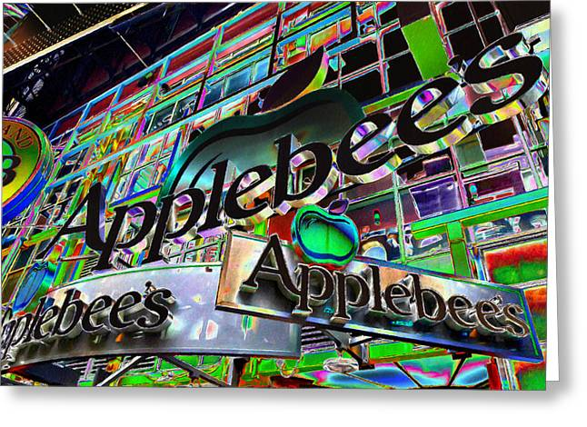 Applebee's Restaurant Sign At New York City Greeting Card by Lanjee Chee