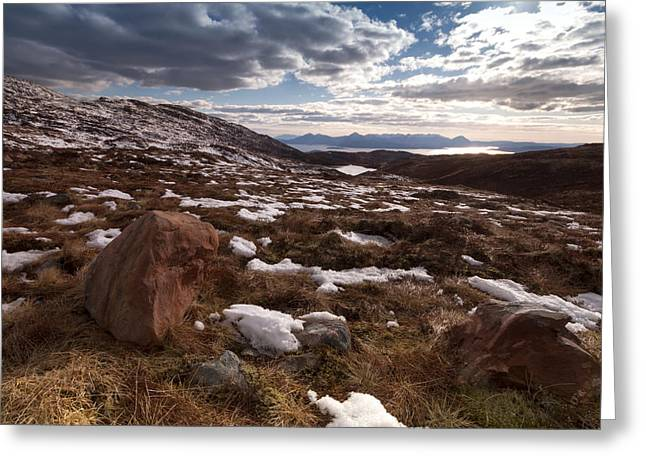 Applecross Pass Greeting Card by Karl Normington