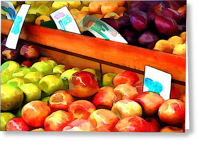 Apples And Pears And Plums Oh My Greeting Card