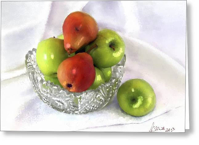Apples And Two Pears Greeting Card
