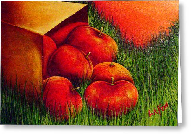 Apples At Sunset Greeting Card