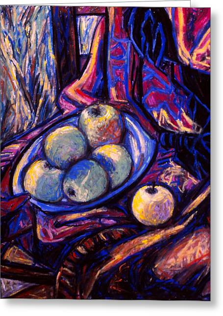 Apples By An Open Window Greeting Card by Kendall Kessler
