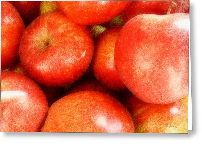 Apples Greeting Card by Cynthia Lassiter