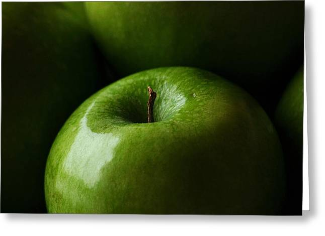 Greeting Card featuring the photograph Apples Green by Lorenzo Cassina