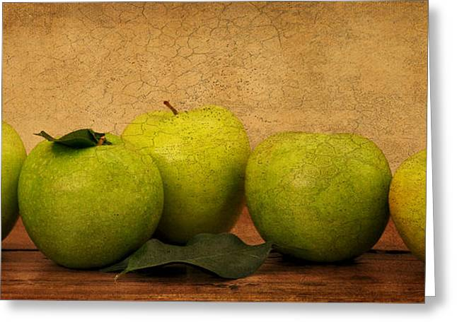 Apples Still Life Greeting Card by Malu Couttolenc