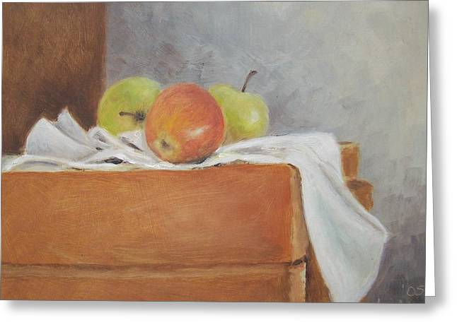 Apples Greeting Card by Mary Adam