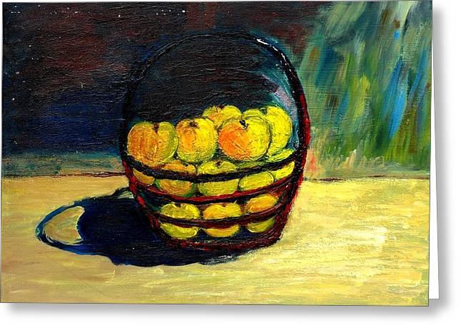 Apples Greeting Card by Mauro Beniamino Muggianu