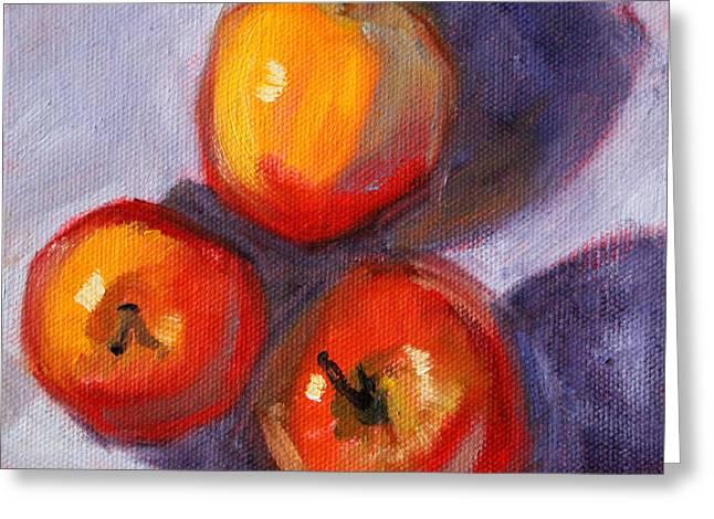 Apples Greeting Card by Nancy Merkle