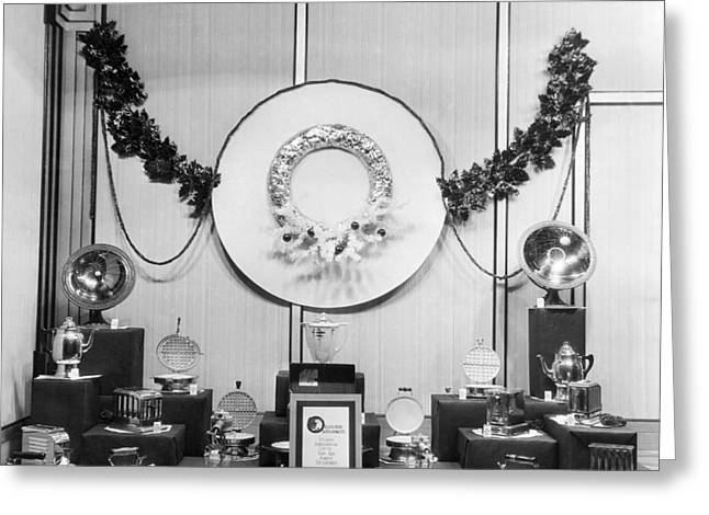 Appliances Window Display Greeting Card by Underwood Archives