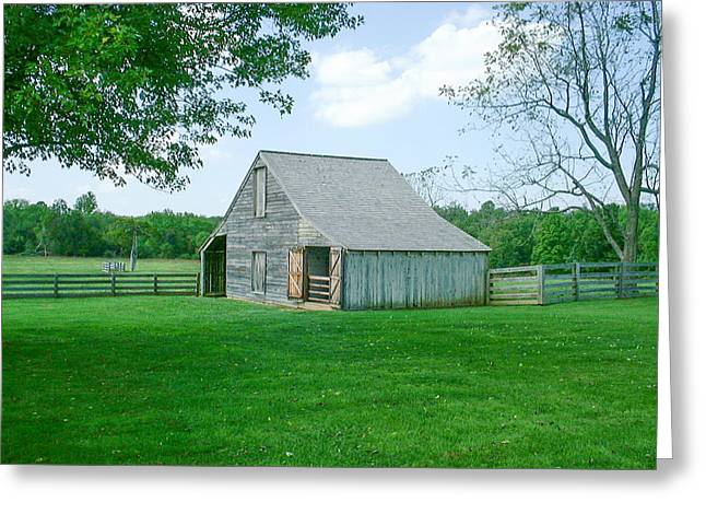 Appomattox Barn Greeting Card by David Nichols