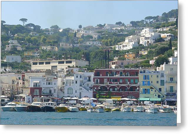 Approaching Capri - View Greeting Card