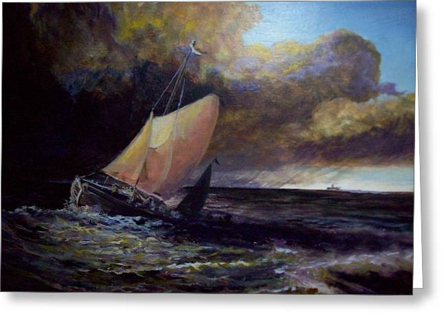 Approaching Gale  After Turner Greeting Card
