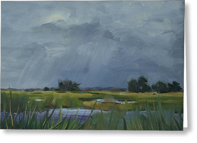Approaching Storm Greeting Card by Barbara Jones