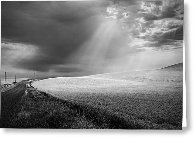 Approaching Storm Greeting Card by Latah Trail Foundation