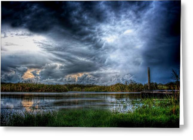 Approaching Storm Greeting Card by Mark Andrew Thomas
