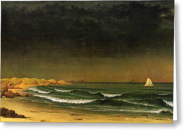 Approaching Storm Near Newport Beach Greeting Card by Martin Heade