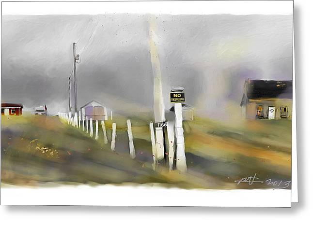 Approaching Storm Northwest Cape P.e.i Greeting Card by Bob Salo