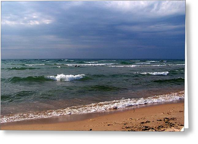 Approaching Storm Over Lake Michigan Greeting Card