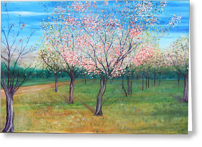 Apricot Orchard Greeting Card
