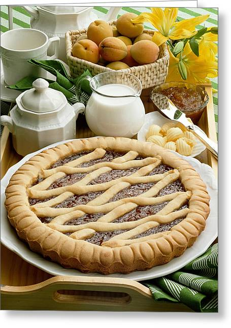 Apricot Tart Greeting Card by R. Marcialis