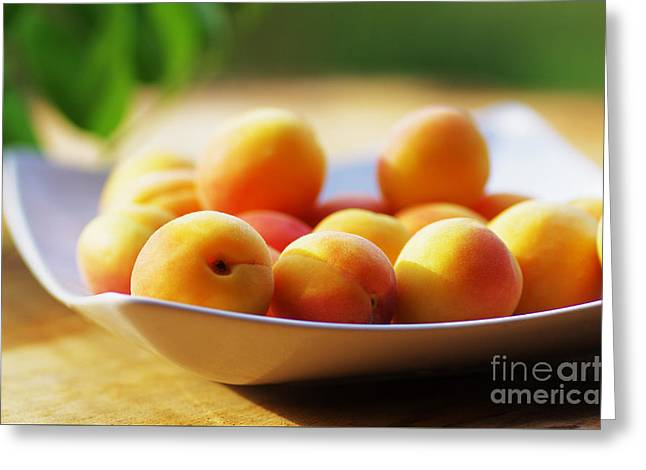 Apricots Greeting Card by Tanja Riedel
