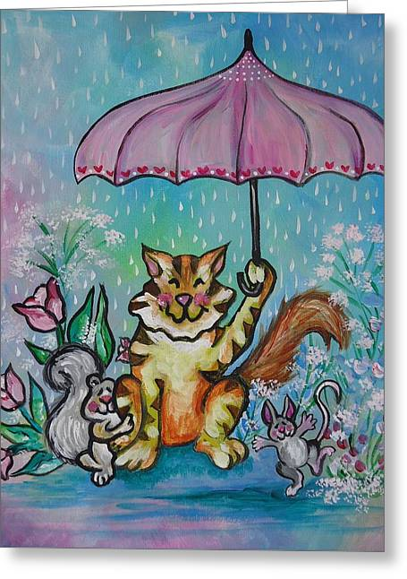 April Showers Greeting Card
