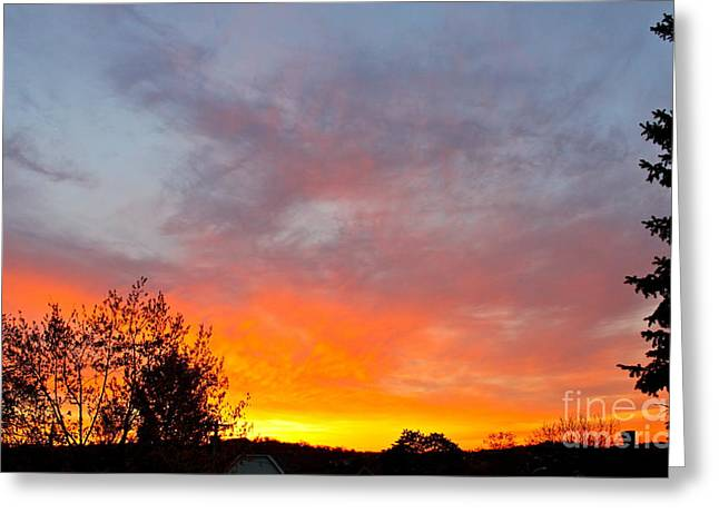 April Sunrise Greeting Card by Jay Nodianos