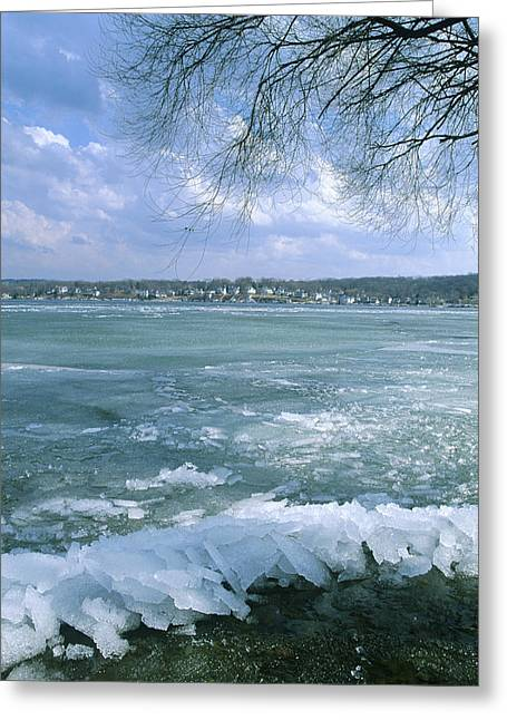 April Thaw - Lake Geneva Wisconsin Greeting Card