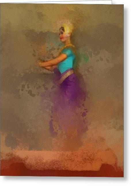 Apsara Dancing Cambodia Lovely Lady Greeting Card by Teara Na