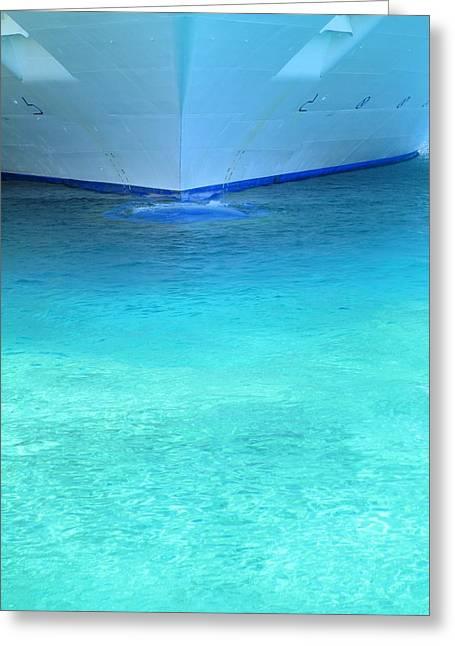 Aqua Greeting Card by Randall Weidner