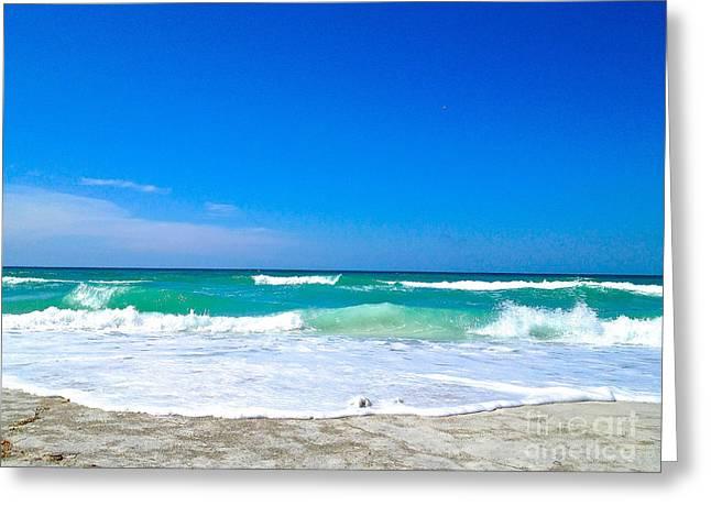 Aqua Surf Greeting Card