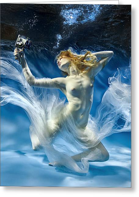 Aqua-theatre Greeting Card by Uniquecapture
