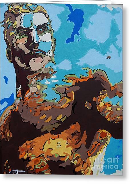 Aquaman - Reflections Greeting Card by Kelly Hartman