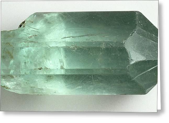 Aquamarine (beryl) Crystal Greeting Card