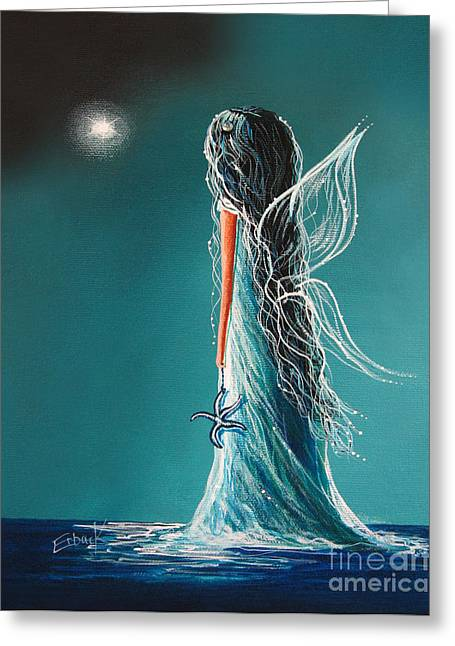 Aquamarine Fairy By Shawna Erback Greeting Card