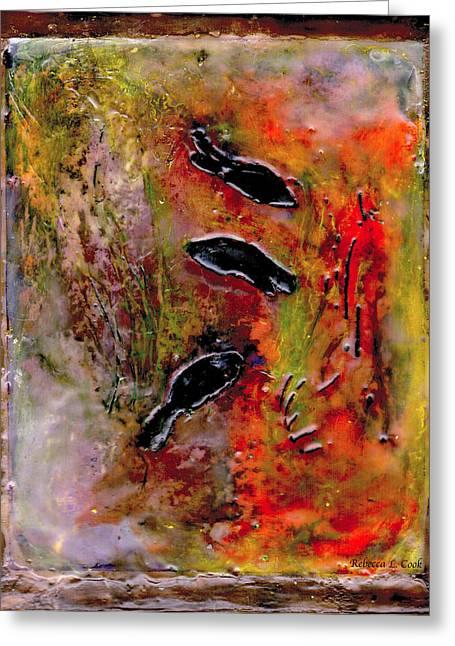 Aquarium Encaustic Greeting Card by Bellesouth Studio