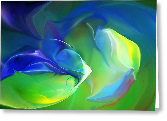 Greeting Card featuring the digital art Aquatic Illusions by David Lane