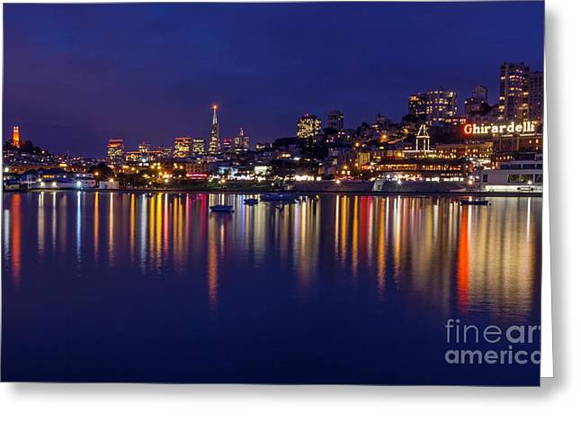 Aquatic Park Blue Hour Wide View Greeting Card