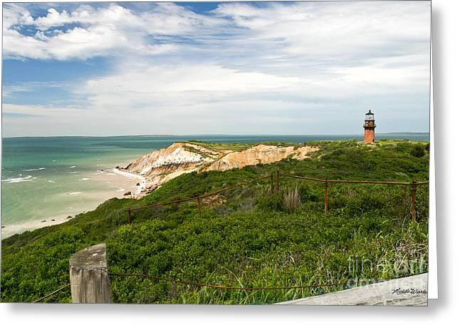 Aquinnah Gay Head Lighthouse Marthas Vineyard Massachusetts II Greeting Card
