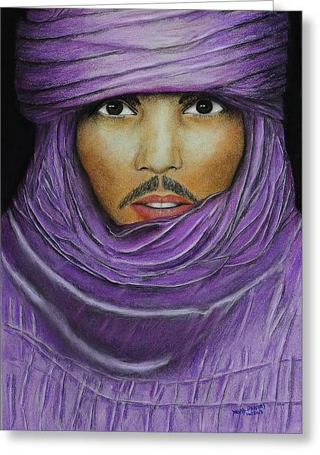 Arab In Traditional Costume Greeting Card by David Hawkes