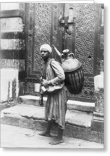 Arab Waterboy, C1900 Greeting Card