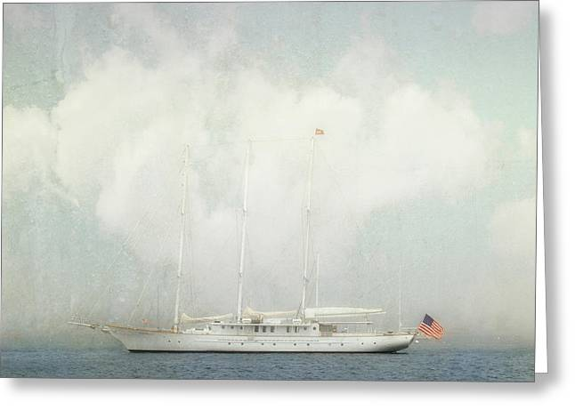 Greeting Card featuring the photograph Arabella On Newport Harbor by Karen Lynch