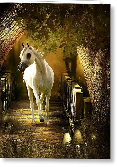 Arabian Dream Greeting Card by Davandra Cribbie